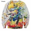 Tamaño s-6xl arco iris pintura 3d sudadera para hombre ninja de naruto anime harajuku hip hop ropa galaxy sudaderas de cuello redondo suéteres