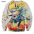 Tamanho s-6xl íris pintura naruto ninja homens moletom 3d anime crewneck pullovers harajuku hip hop outerwear galaxy moletons