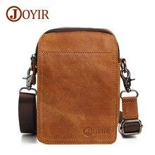 JOYIR Brand Designer Small Messenger Bag Genuine Leather Men Bags Male Vintage Flap Shoulder Crossbody Bags Male Leather Bag