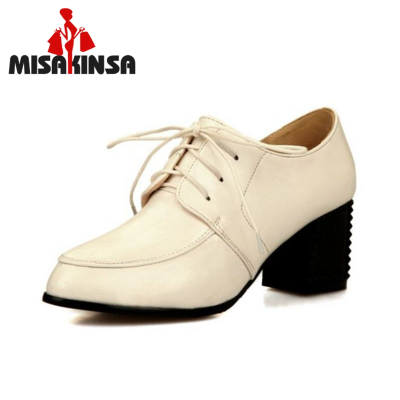 MISAKINSA Size 33-43 Office Ladies High Heel Shoes Woman Round Toe Solid Color Thick Heeled Pumps Daily Shoes Woman Footwears puccini daniele gatti la boheme