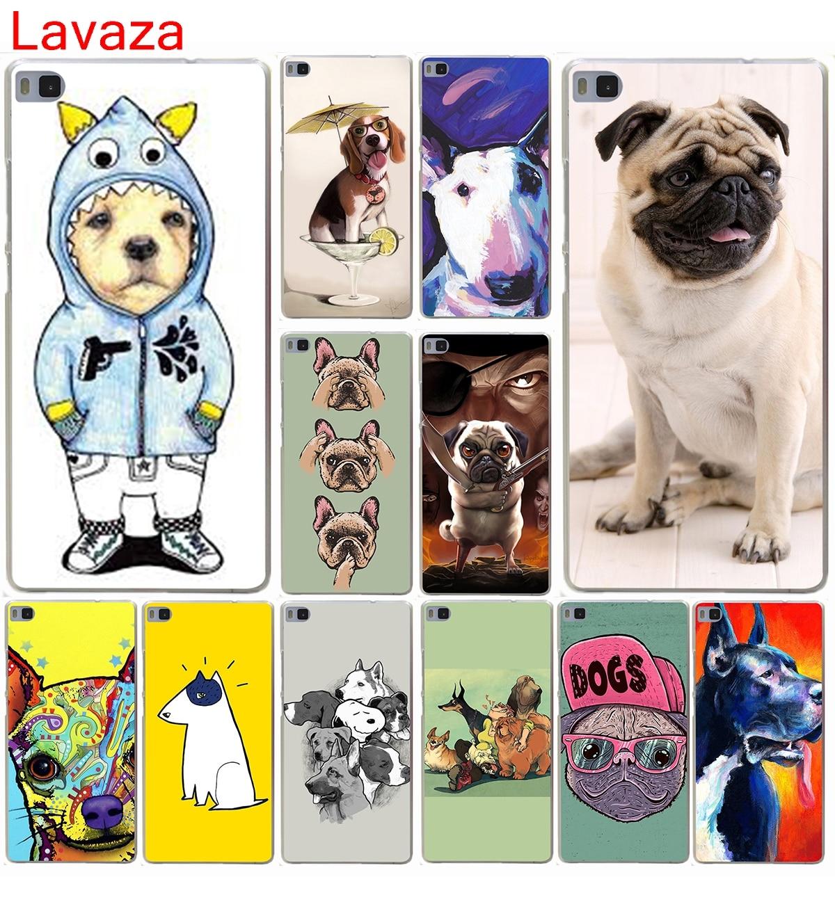 Lavaza Татуированная бультерьер милая собака biaoqing футляр для Huawei P10 p9 P8 Lite P10 p9 плюс P6 P7 G7 и Honor 6 7 8 Lite 4c 4x