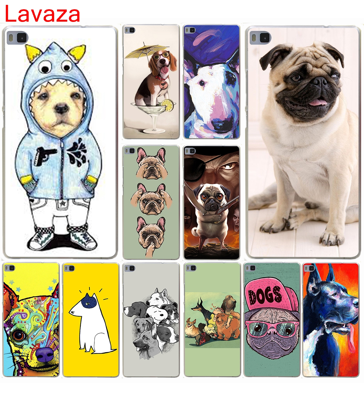 Lavaza Tattooed Bullterrier Cute dog Biaoqing Hard Case for Huawei P10 P9 P8 Lite P10 P9 ...