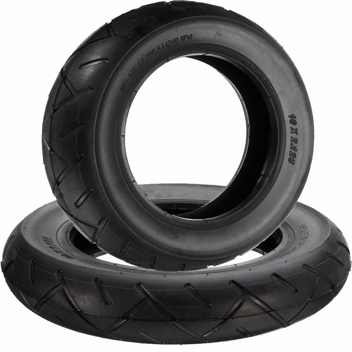 10 pulgadas x 2.125 pulgadas neumático y tubo interior para hoverboard auto equilibrio Scooter Eléctrico CAUCHO NATURAL negro