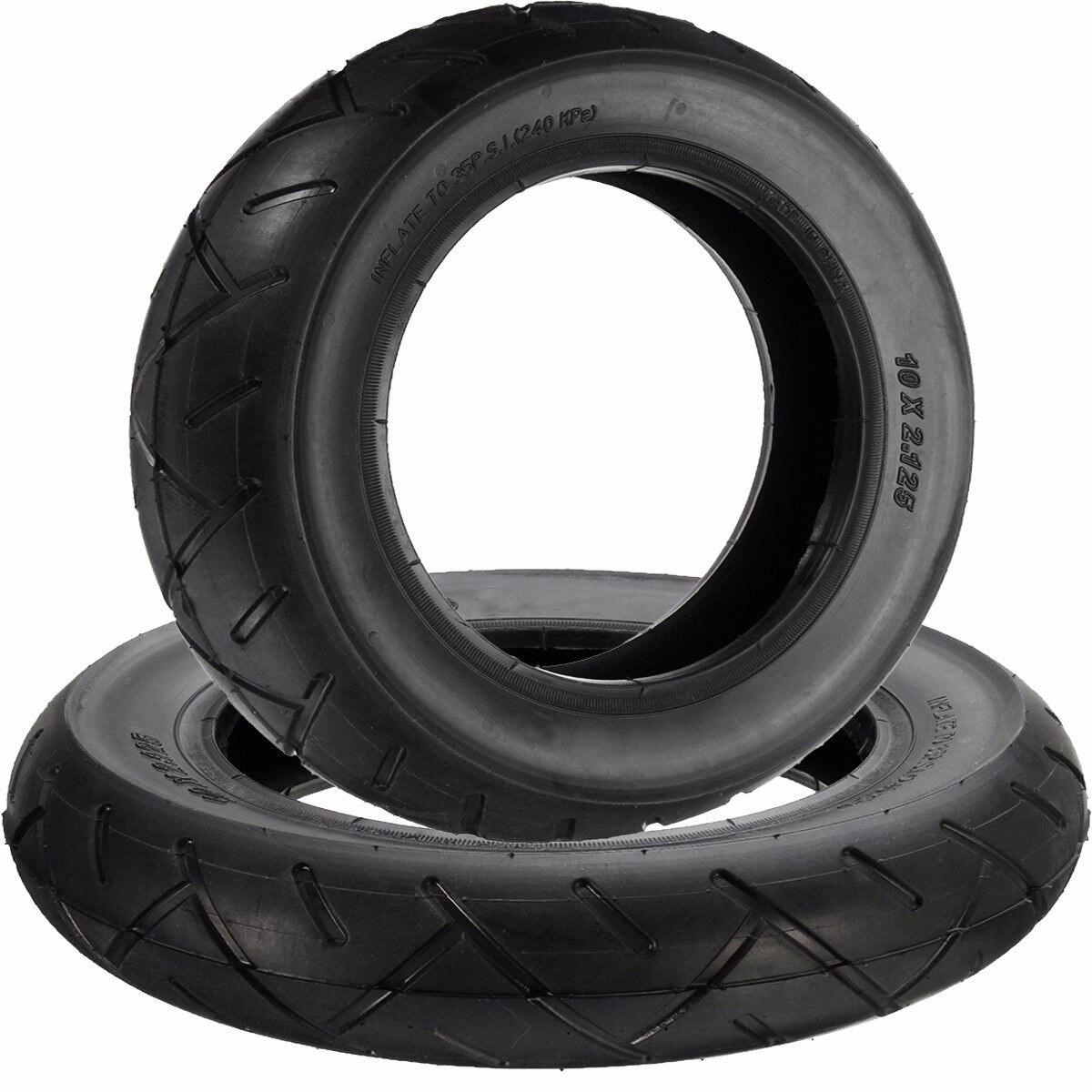 10 zoll x 2,125 zoll Reifen und Schlauch für Hoverboard Selbstausgleich Elektroroller Naturkautschuk Schwarz