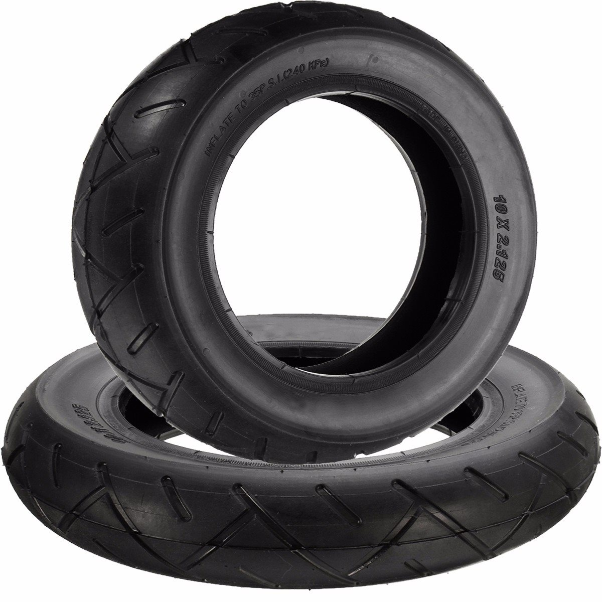 10inch x 2.125inch Tire and Inner Tube for Hoverboard Self Balancing Electric Scooter Natural Rubber Black