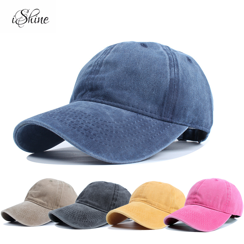 Fashion Women and Men Unisex Outdoor   Baseball     Caps   Denim Washable Jean Snapback   Caps   Adjustable Cotton Solid Color Hats 2018