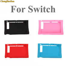 ChengHaoRan 4color Silicone Rubber Soft Host Display Screen Protective Skin Cover Case For Nintendo Switch NS Console protector