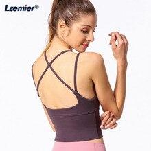 Sports Bra Fitness Women Yoga Bra High Impact Push Up Top Running Sexy Bra Cross Back Workout Bra Strap Summer Casual Underwear