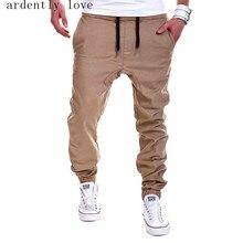 Новые 2017 мужские бегунов мужские брюки мужские брюки pantalones hombre mallas эластичный крест штаны бегуном khaki xxxl qxza
