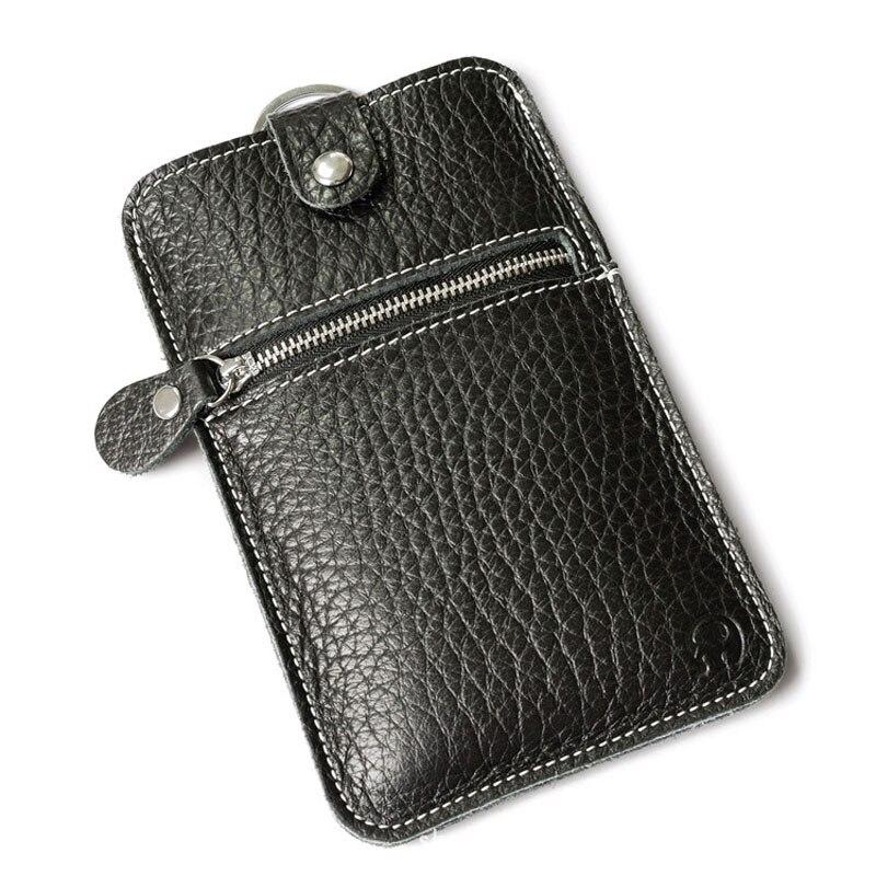 Brand Vintage Genuine Leather Cell Phone Bag Men&Women's Wallet Cash Dollar Purse Mobile Phone Case Cover For Iphone Zipper men vintage wallet pu leather dollar