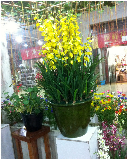 Artificial orchid silk flower arrangement big size bonsai no vase artificial orchid silk flower arrangement big size bonsai no vase home hotel decoration in artificial dried flowers from home garden on aliexpress mightylinksfo Images