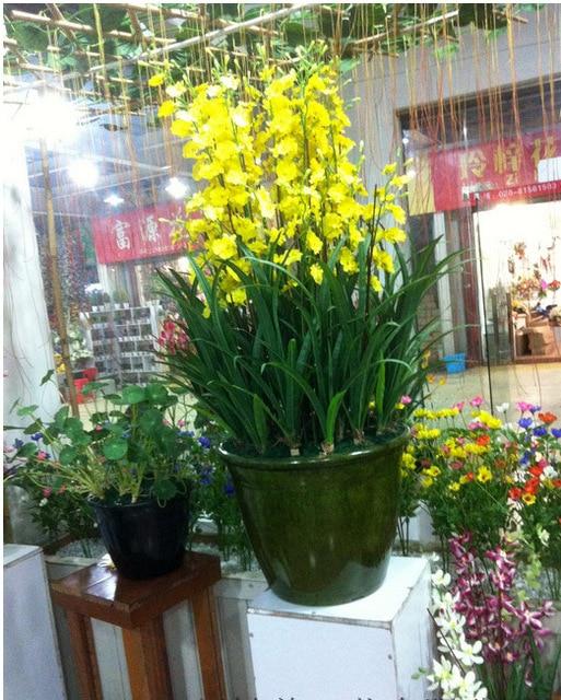 Artificial orchid silk flower arrangement big size bonsai no vase artificial orchid silk flower arrangement big size bonsai no vase home hotel decoration mightylinksfo
