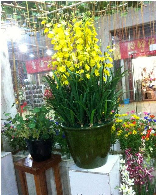 Online Shop Artificial Orchid Silk Flower Arrangement Big Size
