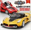 Licenciado 1:32 Scale Diecast Metal Modelo de Carro Para O Camaro Coleção Modelo de liga de Puxar Para Trás Do Carro Brinquedos-Três Cores Livre Da Porta