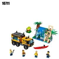 10711 해적 잃어버린 방주 빌딩 블록 장난감 정글 모험 휴대 실험실 벽돌 DIY 장난감 호환 60160