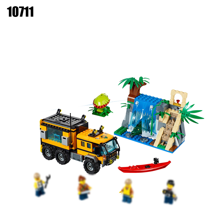 10711 Raiders of the Lost Ark Building Blocks Toys For Children Jungles Adventure Mobile Lab Bricks DIY toys Compatible 60160 black pearl building blocks kaizi ky87010 pirates of the caribbean ship self locking bricks assembling toys 1184pcs set gift