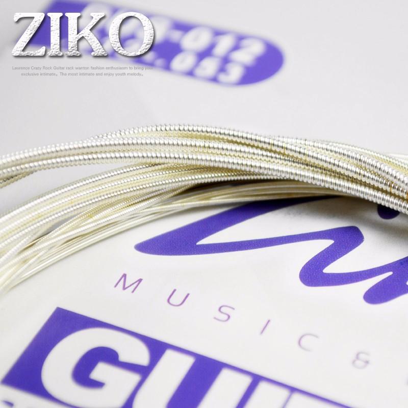 Зико акустическая гитары набор строки 010 011 012 серебрение 6 струны для акустической гитары запчасти музыкальные инструменты