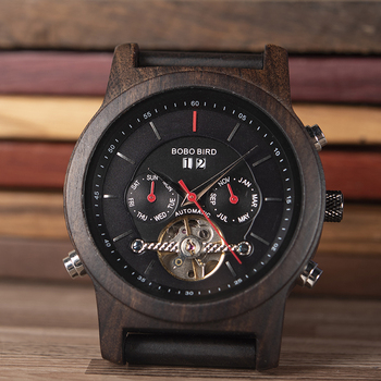 BOBO BIRD Mechanical Luxury Men & Women Wood Watch Comes In Gift Box