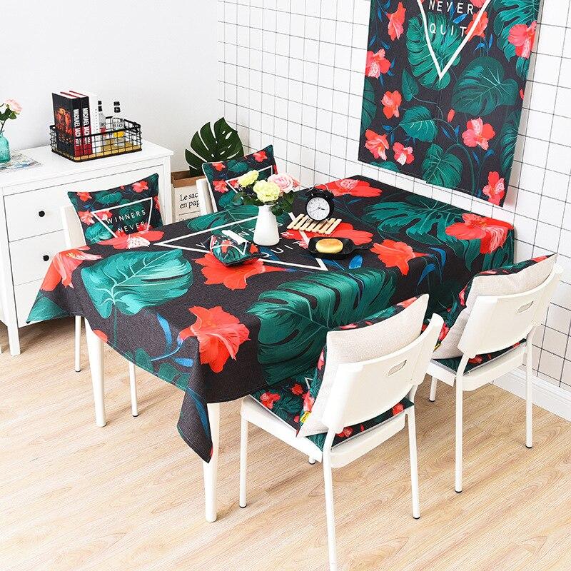 Лист хлопок белье Скатерти прямоугольник Кухня Кофе покрытие стола домашний отель партия скатерть