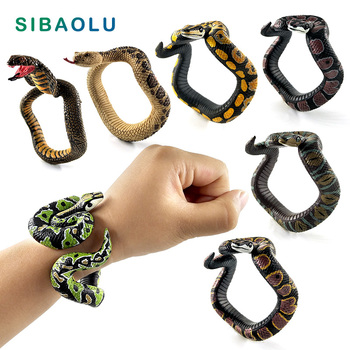 Halloween Children's simulation snake Bracelet Animal model figurine home decor miniature fairy garden decoration accessories 1