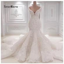 Luxo imagem real marfim branco vestidos de casamento pérolas cristal frisado rendas para festa de casamento nupcial vestido de casamento feito sob encomenda