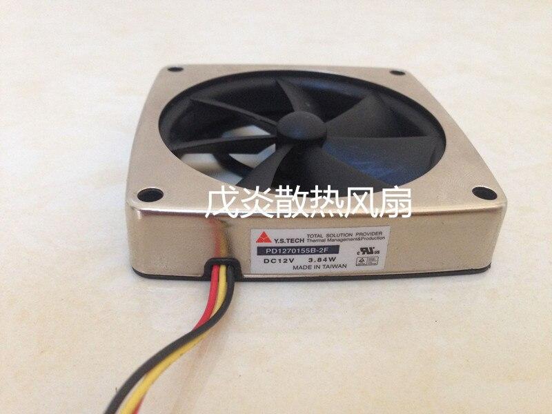 Emacro Y.S.TECH PD1270155B 2F DC 12V 3.84W 70x70x15mm Server Square Fan