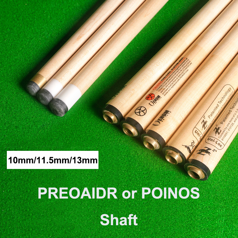 PREOAIDR 3142 Pool Cue Shaft POINOS Pool Stick Shaft 10mm 11 5mm 13mm Tip Canadian Maple