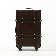British retro crocodile suitcase trolley suitcase board chassis men and women couple models 20-inch 24-inch hot free shipping