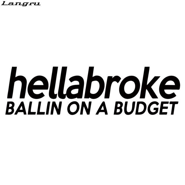 Langru Ballin On A Budget Sticker Car Styling Drift Lowered Fatlace