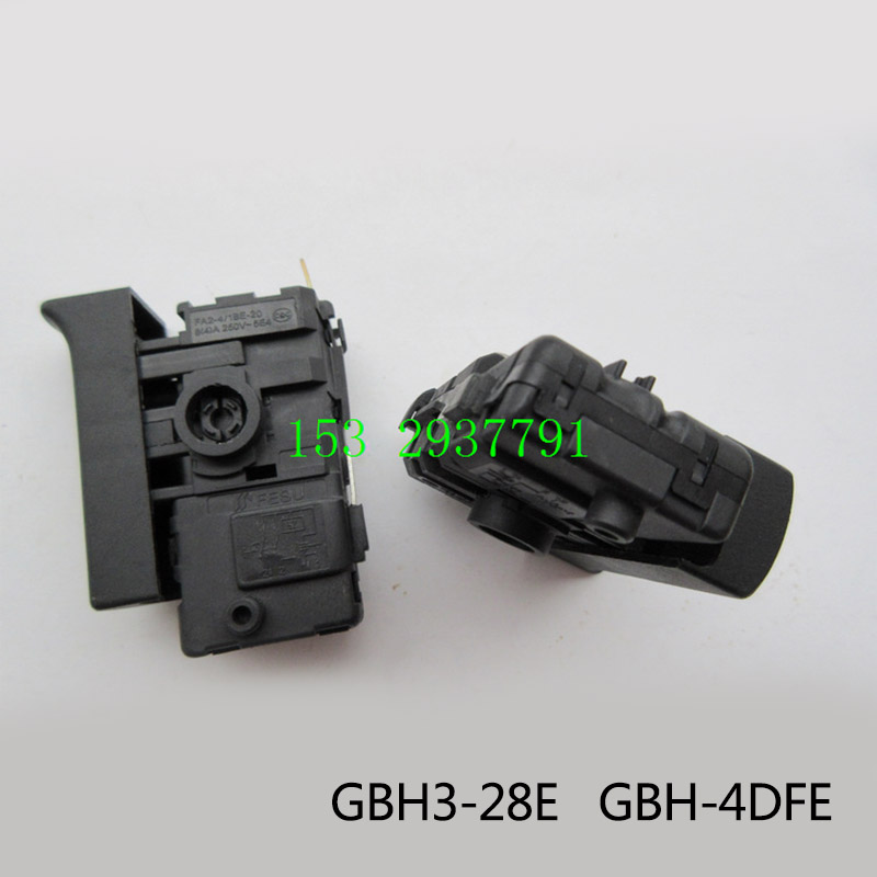 Free shipping! Boutique Electric hammer Drill Speed Control Switch for Bosch GBH3-28E GBH-4DFE, Electric hammer Tool Accessories free shipping original electric hammer drill speed control switch for bosch tsb1300 gsb500re power tool accessories