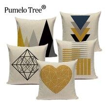 Пользовательские чехлы на диванные подушки, геометрический чехол для подушки Nordic украшения дома высокое качество желтый олень Подушка Чехол для подушки