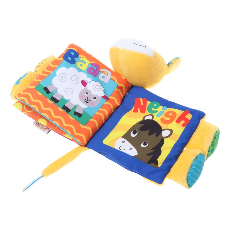 New Drawing Toy Baby Quiet Book Little Donkey Appease Cloth Book Cartoon Educational Soft Fabric Kid Children Learning