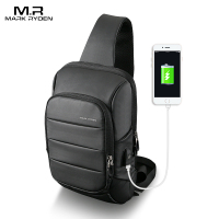 Mark Ryden 2018 New Sling Bag for men USB Charging Shoulder Bag Water Resistant Chest Pack Large Capacity Oxford Crossbody Bag