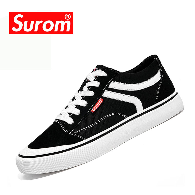 SUROM 2018 New Fashion Mænds Vulcanize Sko Sneakers Breathable Men - Mænds sko