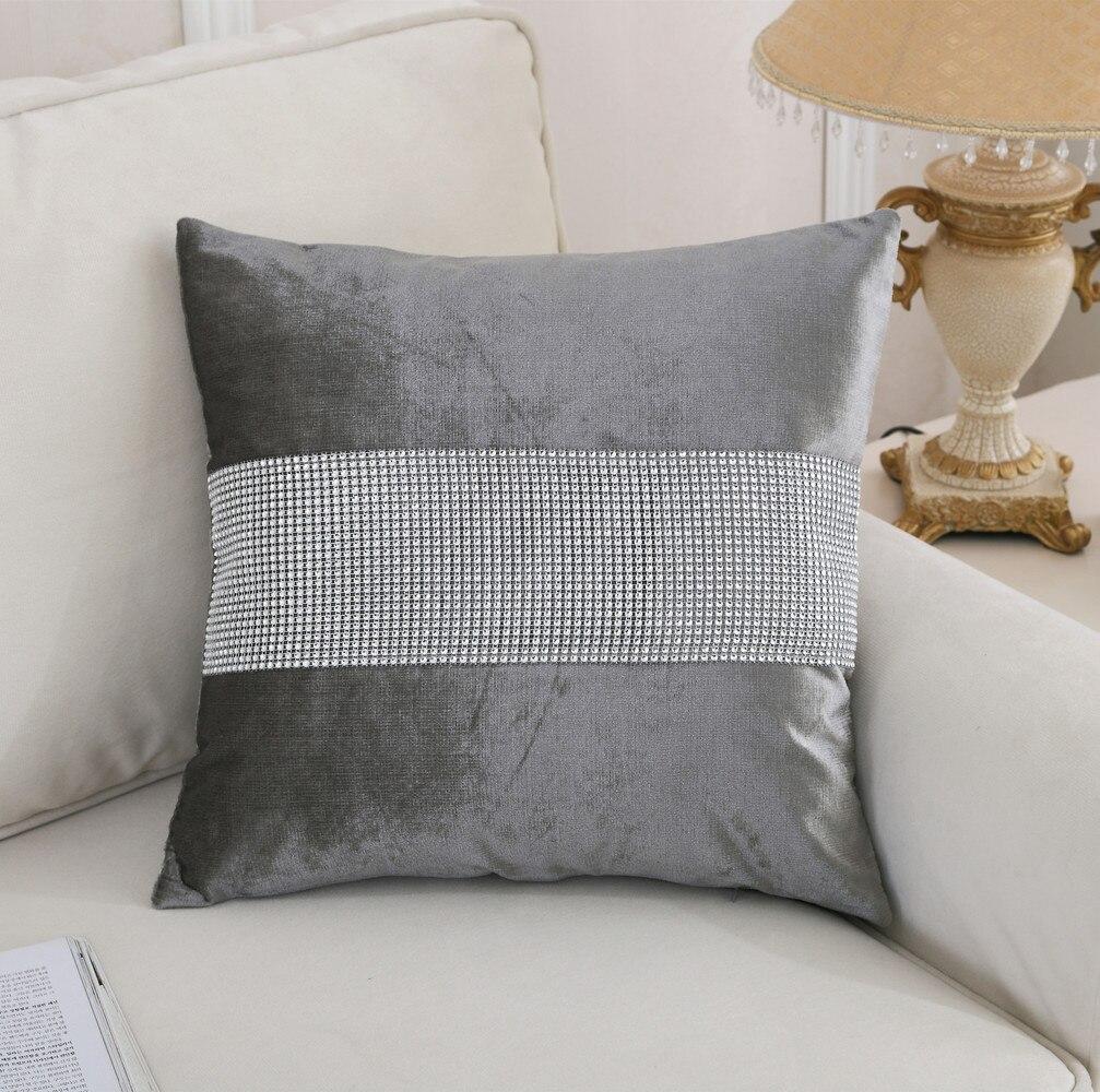 Glittered Grey Silver Shaggy Fluffy Soft Cushion with Inner 45x45 cm