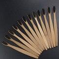 12 Unids/lote respetuoso del medio ambiente de madera suave raspador de lengua Oral Cuidado de los dientes de limpieza de Cerdas Suaves Cepillo De Dientes De Bambú