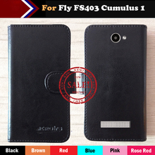 цена на Hot!! Fly FS403 Cumulus 1 Case 6 Colors Flip Leather Exclusive For Fly FS403 Cumulus 1 Special Cover Phone Bag +Tracking