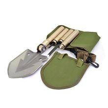 Military Folding Shovel Gardens Camping Survival Multifunctional Spade Shovel Outdoor Pocket Knife Multitool Gardening Tools цена