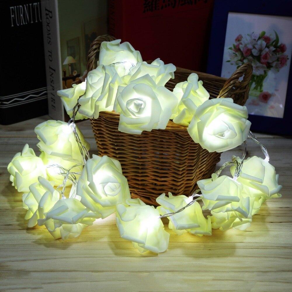 ICOCO 2017 visoke kvalitete 20 LED romantični ruža cvijet vila niz - Rasvjeta za odmor - Foto 2