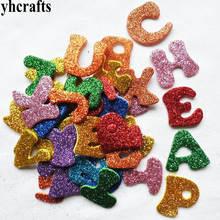 1 упаковка/партия. Блестящие A-Z наклейки из пены с буквами алфавита, Обучающие самостоятельно английскому, для детского сада, поделки своими руками, игрушки для комнаты, наклейки