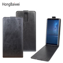 Hongbaiwei Voor Cubot X18 Case Luxe Flip Cover Voor Cubot X18 Leather Case 5.7 Inch Verticale Back Cover Flip Up en Down(China)