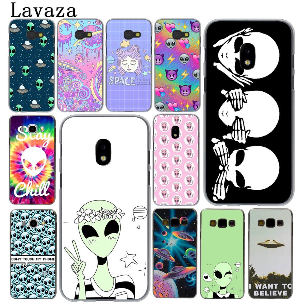 Lavaza Emoji Alien spacecraft cute Hard Phone Case for Samsung Galaxy J5 J1 J2 J3 J7 2017 2016 2015 2018 J3 J5 Prime Cover