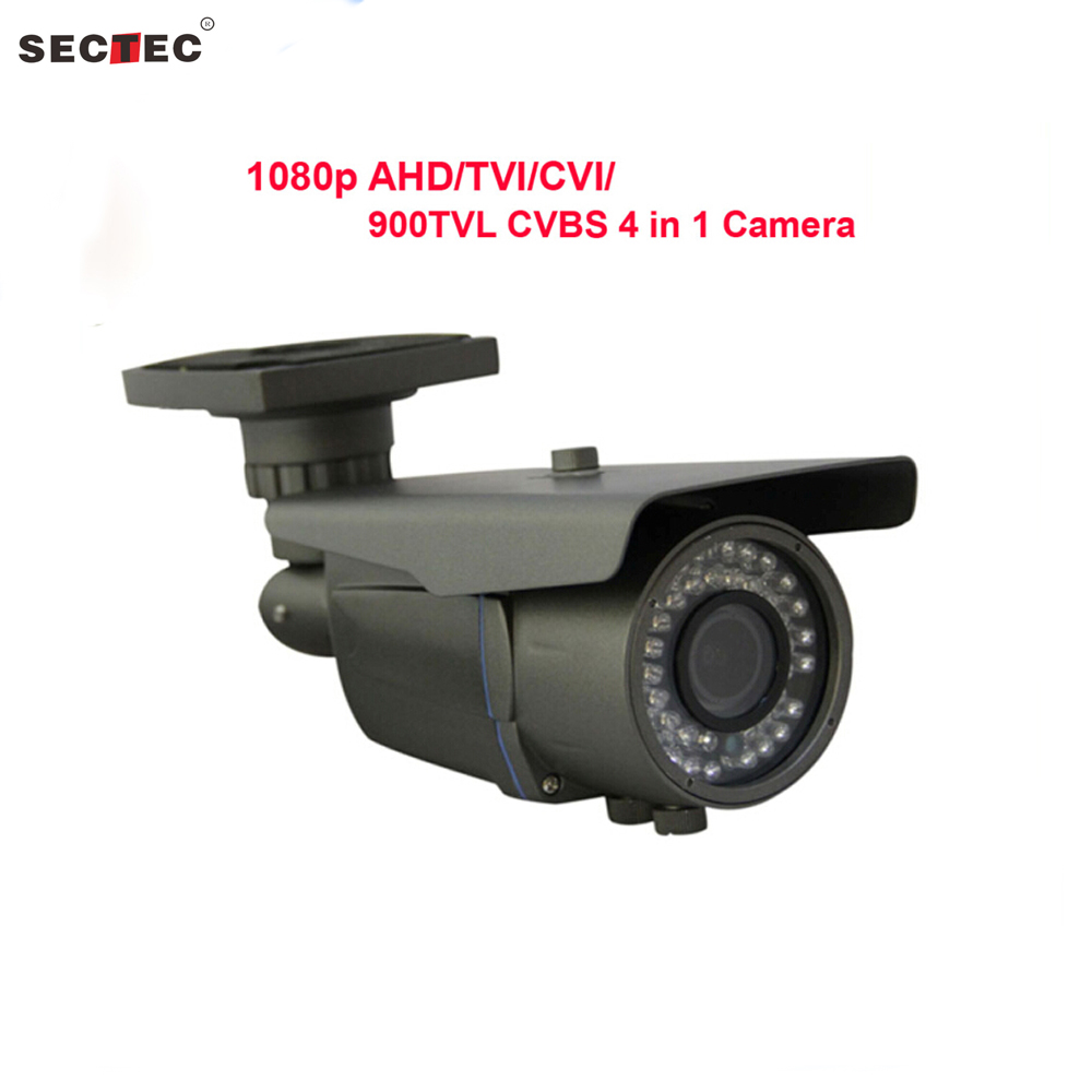 New 1080P AHD/TVI/CVI/900TVL CVB camera 4 in 1 with OSD, HD 3MP 2.8-12 mm manual zoom lens IP66 Waterproof CCTV Camera 33x zoom 4 in 1 cvi tvi ahd ptz camera 1080p cctv camera ip66 waterproof long range ir 200m security speed dome camera with osd