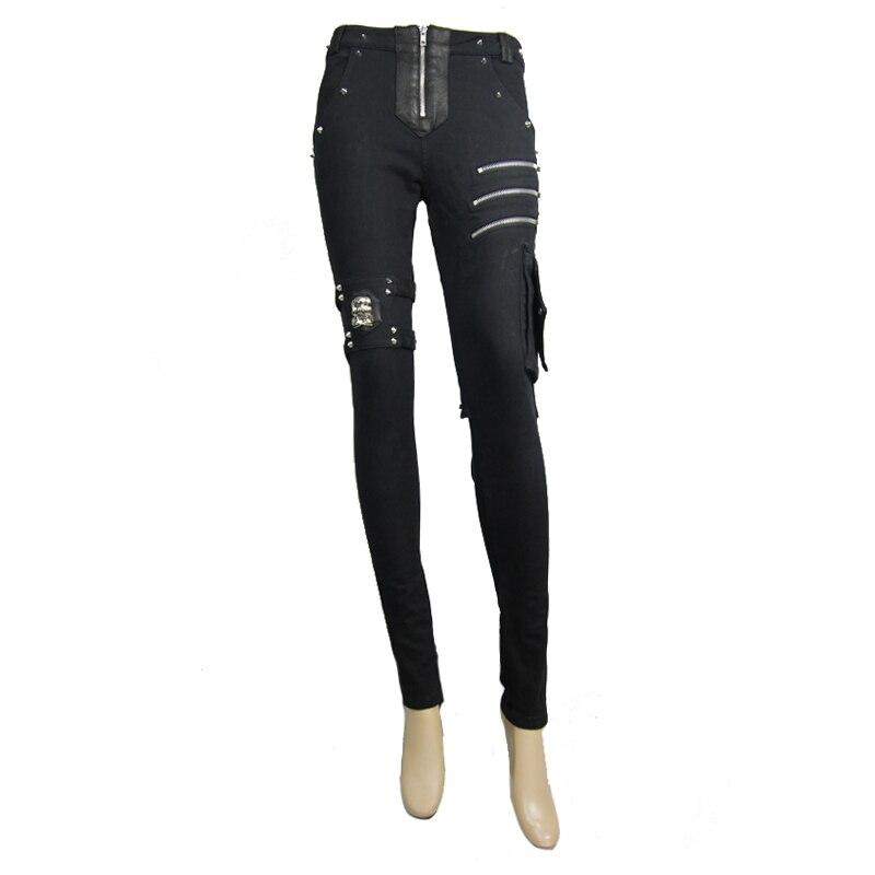 Nouveau Punk Rave mode noir évider gothique extensible Slim femmes Sexy Leggings pantalon WK342BK - 6