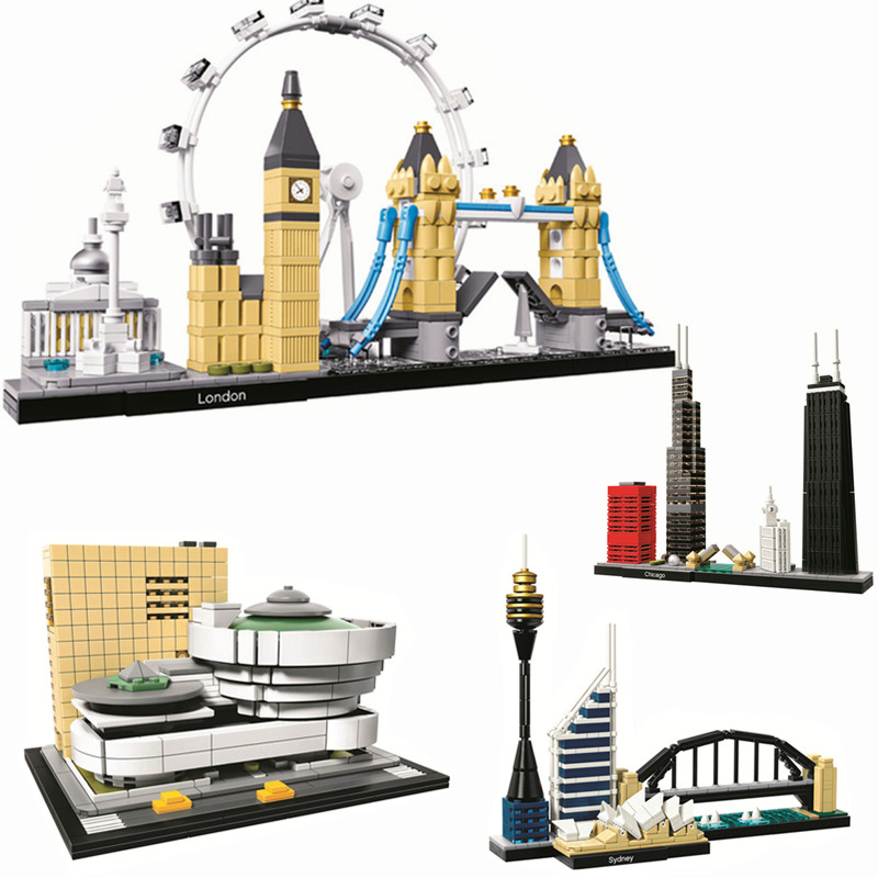 4 Pcs/lot Architecture World Famous City Building Set Skyline Blocks Sets Bricks Classic Model Kids Toys Compatible Legoings4 Pcs/lot Architecture World Famous City Building Set Skyline Blocks Sets Bricks Classic Model Kids Toys Compatible Legoings