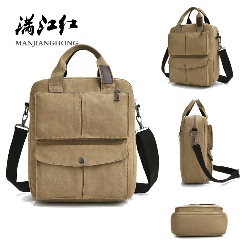 vintage fashion unisex canvas messenger bag book laptop school shoulder bags ladies women crossbody bags handbag men travel bag Canvas Men Shoulder Bag Vintage Laptop Bag 14 Inch Fashion Messenger Crossbody Bags For Men Handbag Casual Tote Satchel Bag 1366