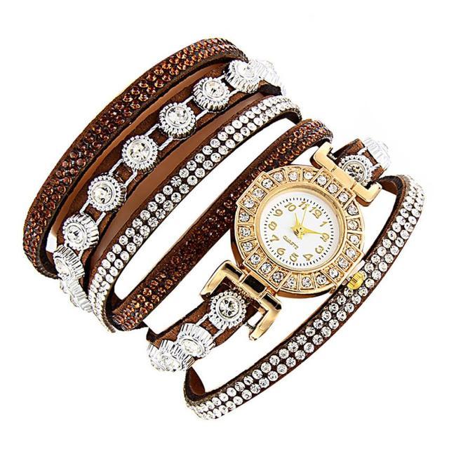 Watch 2017 relogio masculino Women watches Rhinestone Watch Bracelet Watch Gift