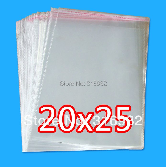 Clear Resealable Cellophane/BOPP/Poly Bags 20*25cm  Transparent Opp Bag Packing Plastic Bags Self Adhesive Seal 20*25 Cm
