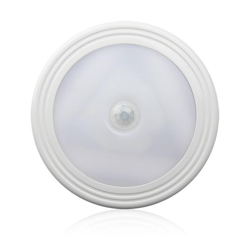 4pcs Motion Sensor LED Light Battery Powered LED Stick On Wall Light Nightlight Magnetic ...