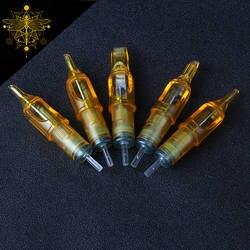 BIOMASER Лидер продаж 10 шт одноразовые полу-татуаж татуировки картридж игла RL/RM/M1/RS принадлежности для татуировки 1RL/3RL/5RL/7RL